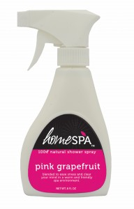 Pink Grapefruit Home Spa Shower Spray